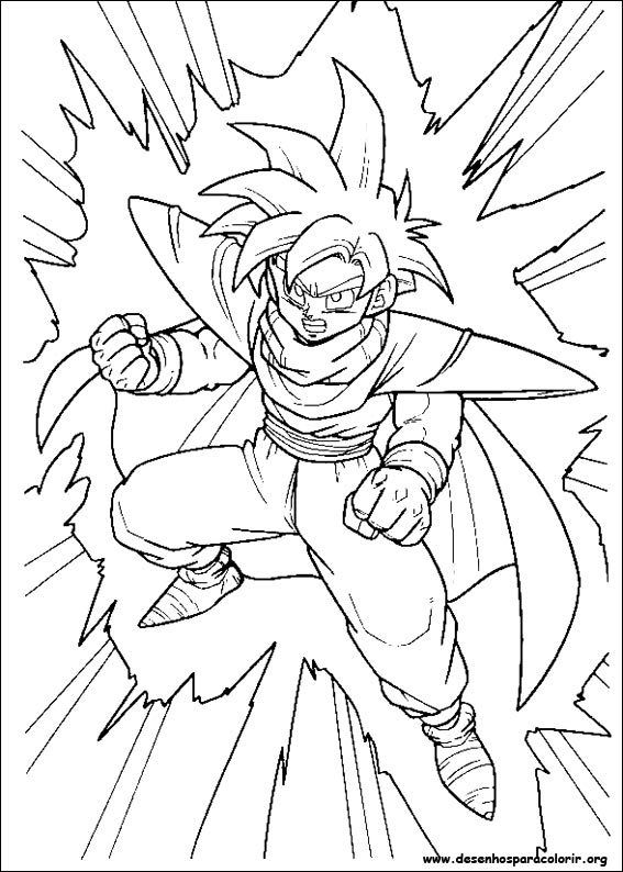 Dragon Ball Z para colorir