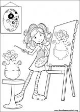 groovy girl coloring pages - desenhos do groovy girls para colorir