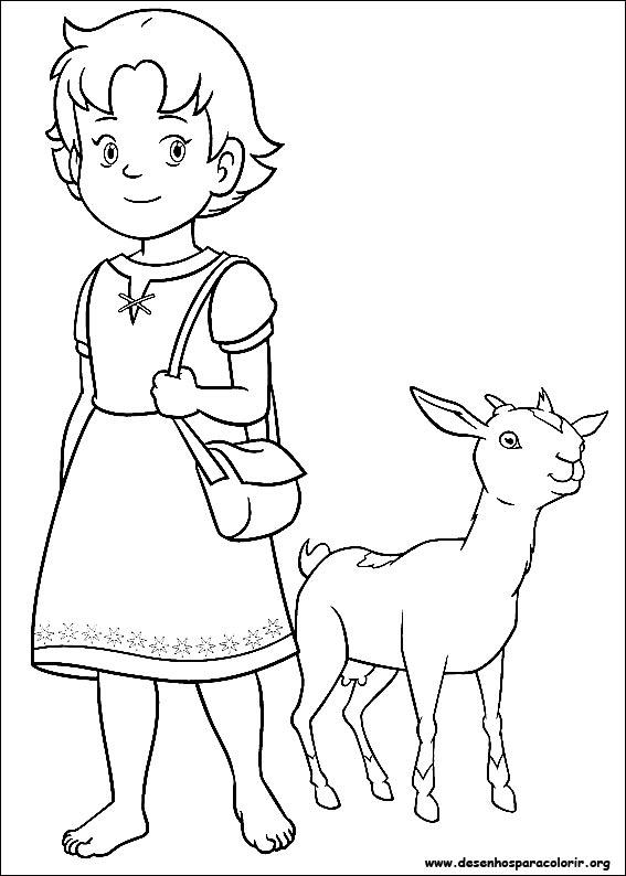 Heidi para colorir - Coloriage heidi ...