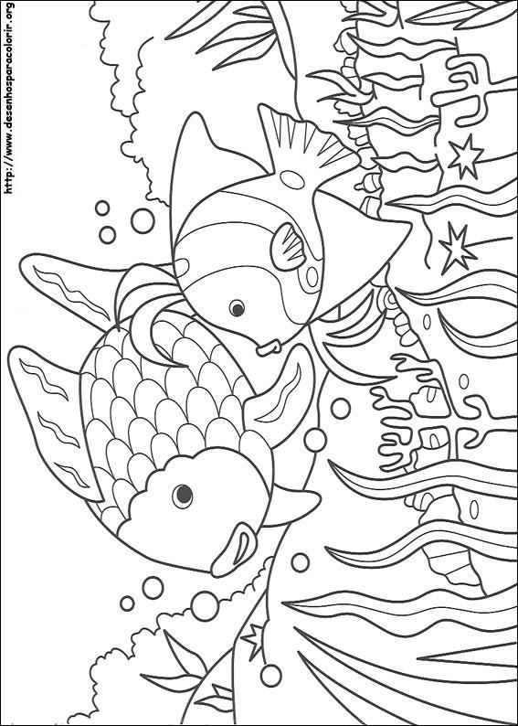O Peixe Arco Iris Para Colorir