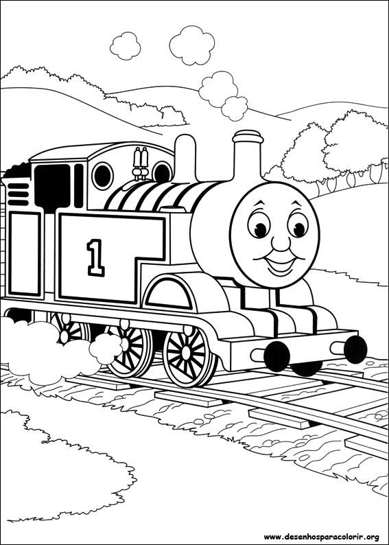 Thomas e seus amigos para colorir for Spencer the train coloring pages