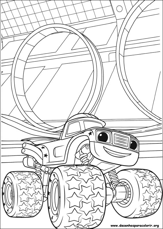 Blaze e as monster machines para colorir for Disegni da colorare blaze