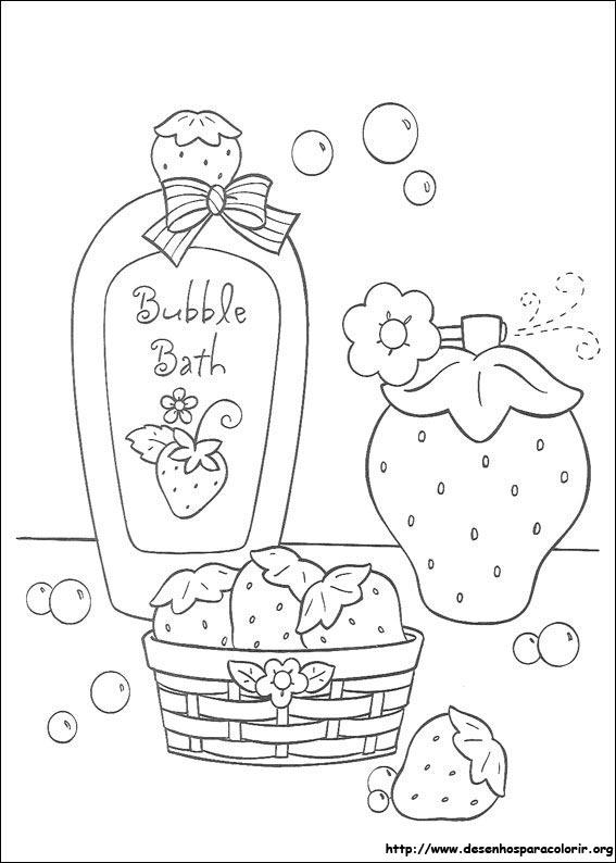 Docinho de morango para colorir for Dessin de salle de bain a imprimer