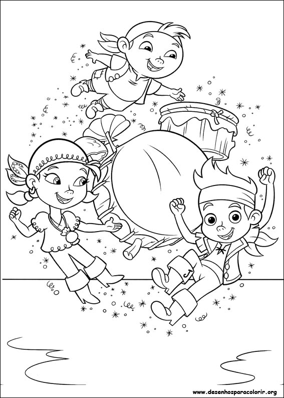 Desenhos para Colorir do Jake e os Piratas da Terra do