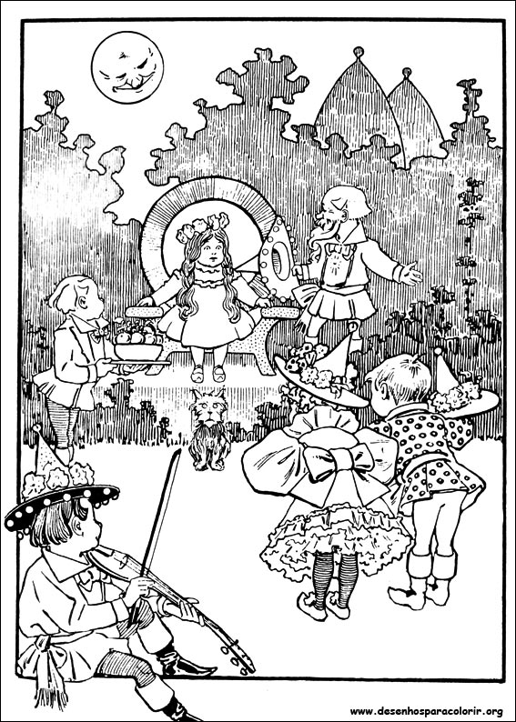 O m gico de oz para colorir for The wonderful wizard of oz coloring pages