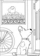 Desenhos do pets para colorir for Secret life of pets printable coloring pages
