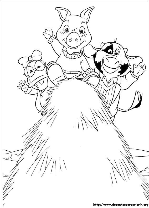 Desenho do As Aventuras De Piggley Winks