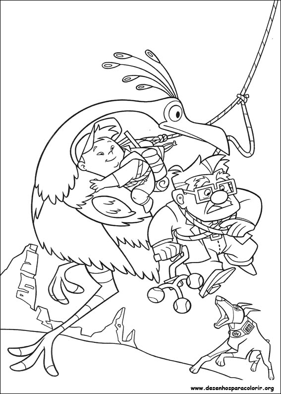 Coloring Pages For Up Movie : Up altas aventuras para colorir